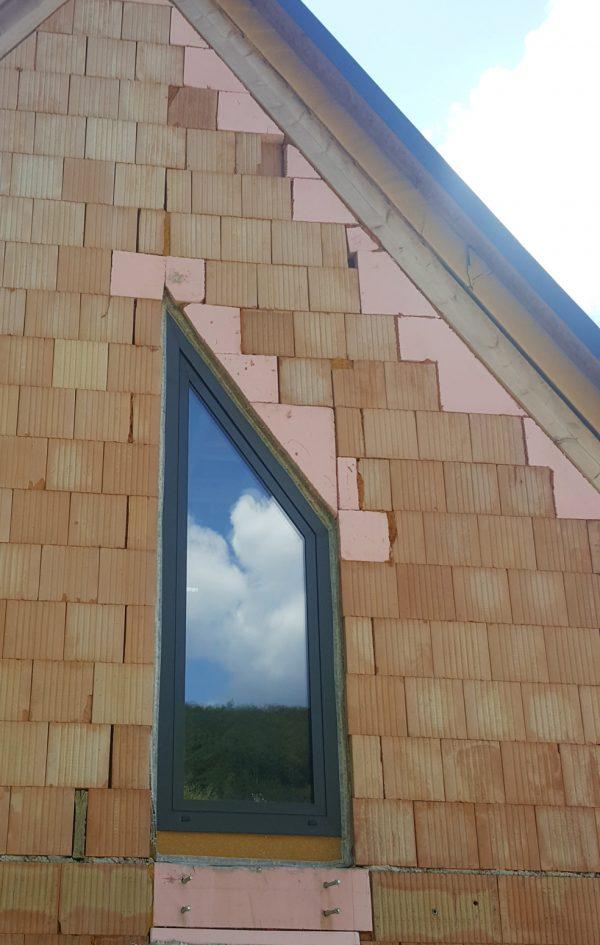 náhled Hliníkové okno podkrovní, trjsklo, vyklopne