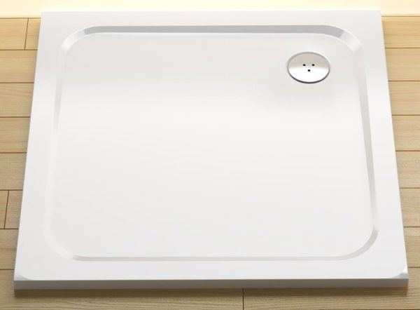 náhled Zcela nová sprchová vanička Ravak Pro Chrome 80x80, litý mramor