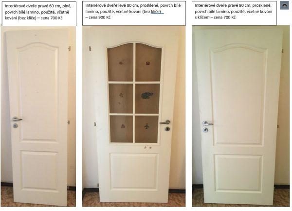 náhled Prodám profilované  interiérové dveře  - bílé lamino