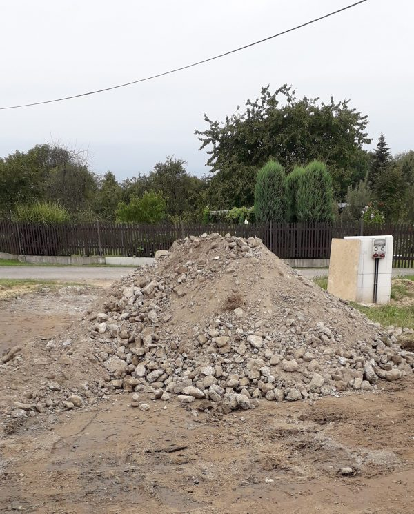 náhled drcený beton + kameny