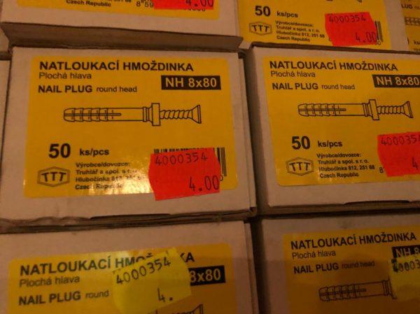 náhled Natloukací hmoždinky NH 8x80