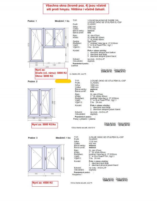 náhled Prodávám okna a balkonové dveře (vč. rámů) značky OKNOTHERM