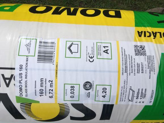 náhled Tepelná izolace ISOVER DOMO PLUS role 160 mm (6,72 m2/bal)