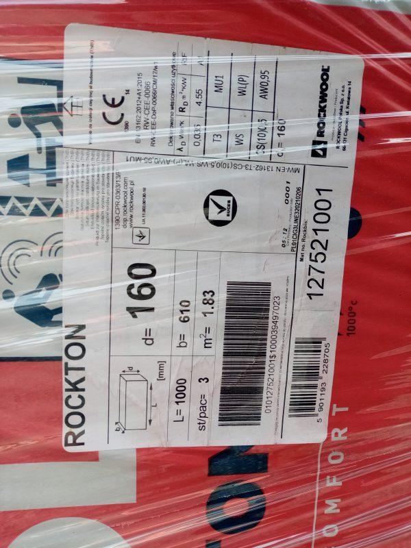 náhled Vata rockwool rockton tl. 160 mm