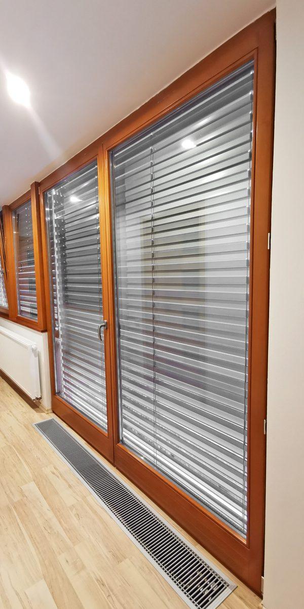 náhled dřevěné francouzské dvojdílné okno/dveře 230x242cm, TOP STAV