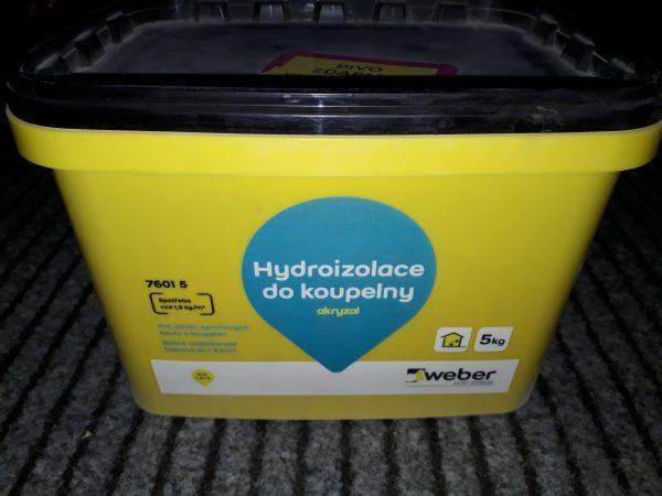 náhled Hydroizolace do koupelny - Akryzol  5kg - WEBER