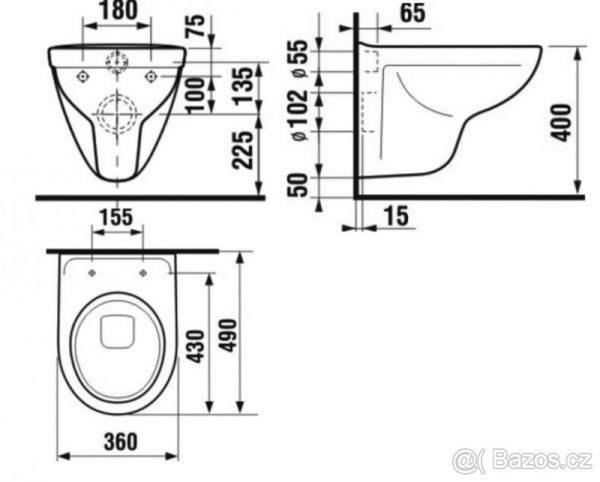 náhled WC mísa závěsná 49 cm (Jika Lyra)