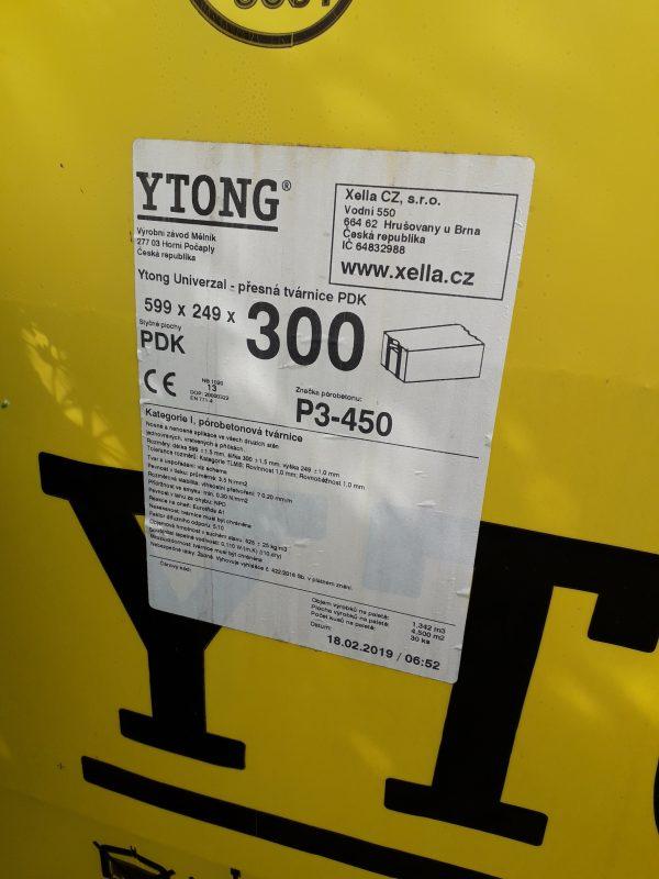 náhled Ytong UNIVERZAL 300 (P3-450 300X249X599 PDK)