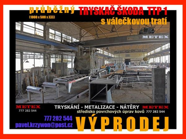 náhled Průběžný tryskač ŠKODA TTP 1 s válečkovou tratí . LEVNĚ