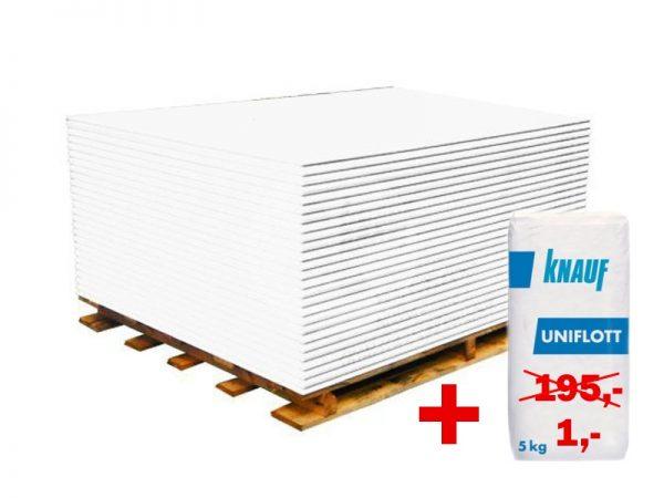 náhled Sádrokarton KNAUF GKB tl. 12,5 mm, rozměry 1,25 x 2 m, bílý