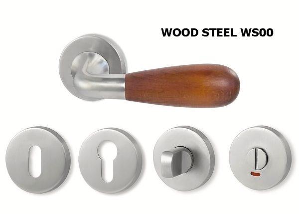 náhled Dveřní kliky WOOD STEEL WS00 a WS01