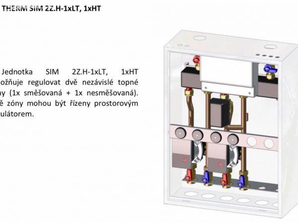 náhled Zónová hydraulická jednotka THERM SIM 2Z 1HT/1LT