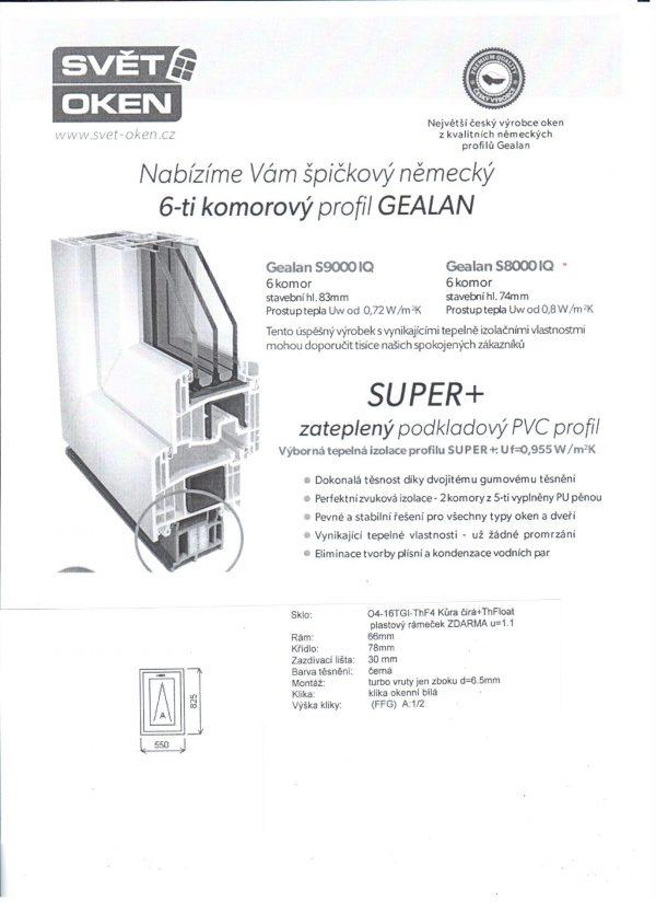náhled Prodáme 6-ti komorová plastová okna profil Gealan.