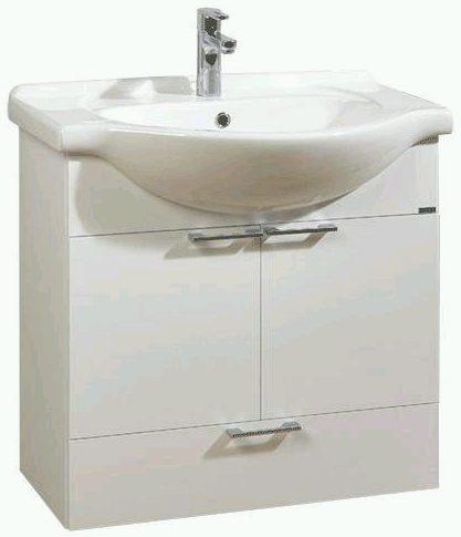 náhled Umyvadlo 75cm, skříňka spodní, zrcadlo, skříňka, Lebon Smart