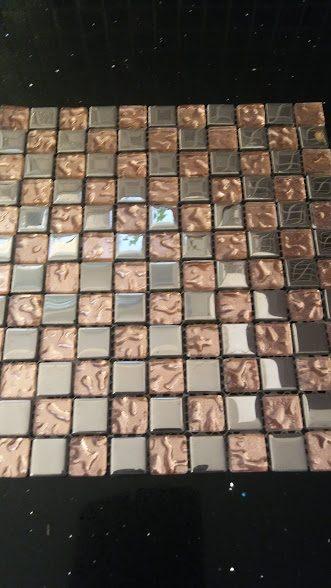náhled Nerezovo-skleněná mozaika