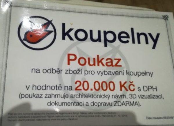 náhled Koupelny ptáček - poukaz na 20 000 Kč