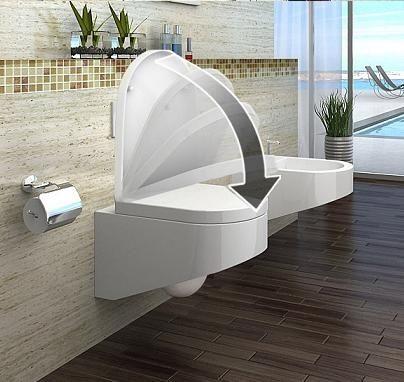 náhled Závěsný záchod vč. sedátka s funkcí soft close