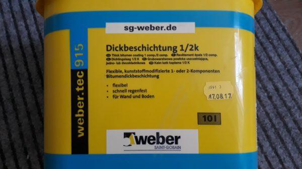 náhled Bitumenová hydroizolace Weber.tec 915 - 10L