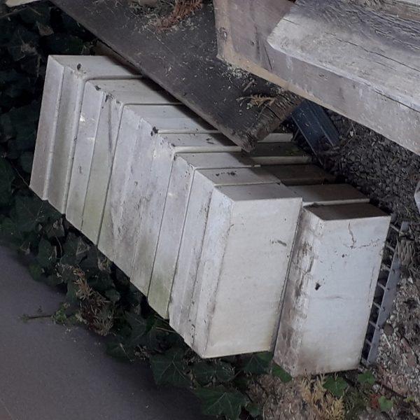 náhled Cementové cihly bílé plné 21 ks