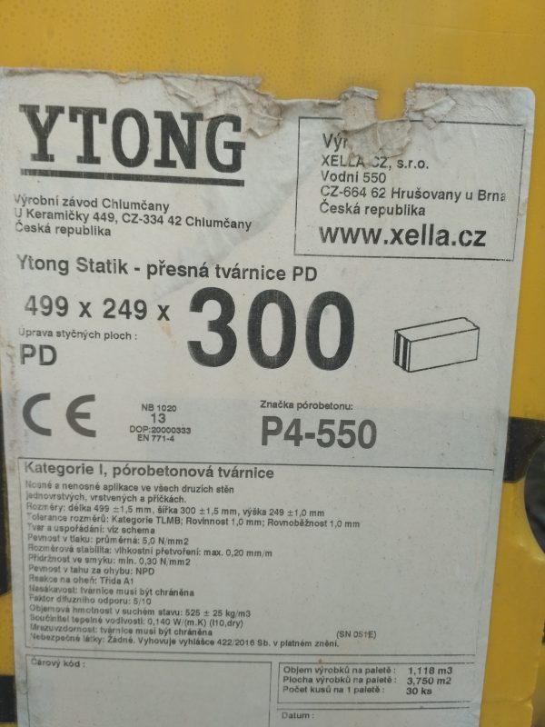 náhled Prodám tvárnice YTONG