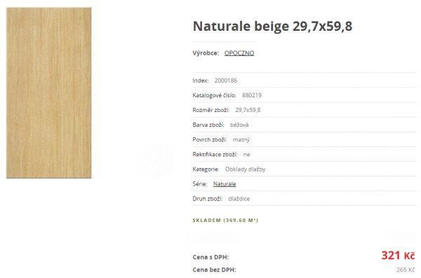 náhled Naturale beige 30*60, obklad/dlažba