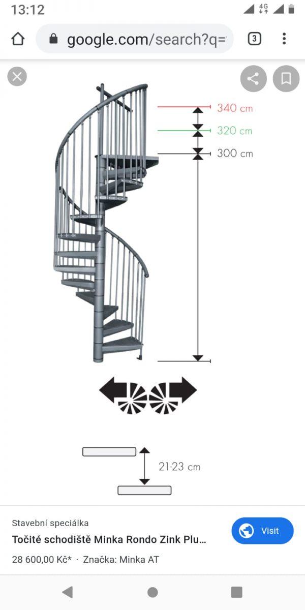 náhled Nabízim schodiště se zábradlím kompletní  původní cena se pohybuje 28600kc