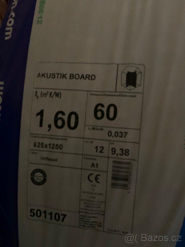náhled KNAUF INSULATION Akustik Board (TP 115) Ecose tl. 60mm